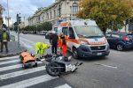 Messina, incidente auto-moto a piazza Antonello: ferita una donna