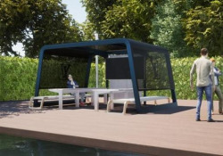 L'ufficio post-covid? Sarà all'aperto. Ecco il progetto made in Italy Si chiama «Eitherland» il primo spazio d'arredo pensato appositamente per le nuove modalità del mondo del lavoro, che ha vinto il prestigioso German Design Award 2021 - Dalla Rete