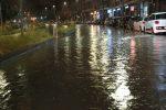 Forte temporale nella notte a Messina, strade allagate - Foto