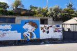 Riace, danneggiato il murales dedicato a Peppino Impastato