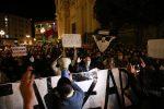 Il corteo di protesta a Catanzaro