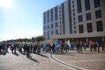 Sanità in Calabria, manifestazione dei sindacati davanti alla Cittadella regionale