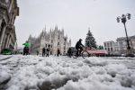 Venti forti e gelo al Nord, Milano sotto 20 centimetri di neve. FOTOGALLERY