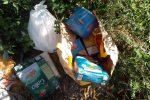 Amantea, abbandonano nei rifiuti i pacchi alimentari per i poveri