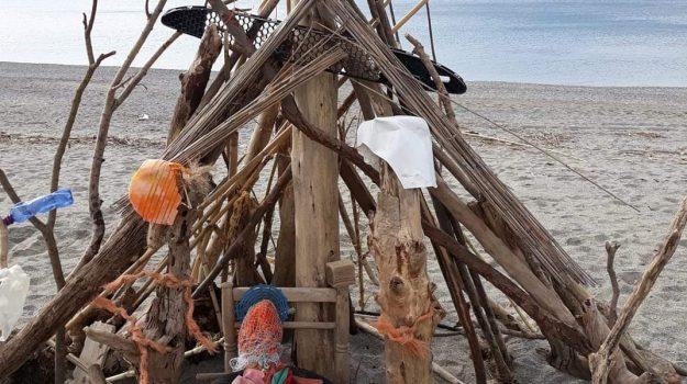 lamezia terme, mareggiate, natività, presepe, spiaggia, Fernando Cimorelli, Catanzaro, Cronaca