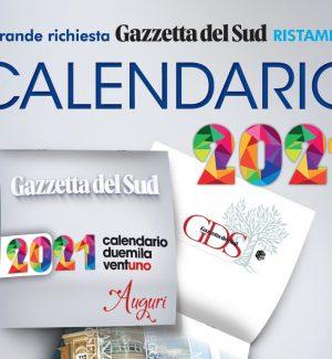 Calendario 2021 di Gazzetta del Sud, prenotalo dal tuo edicolante