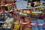 Vibo, la polizia sequestra 365 chili di fuochi d'artificio