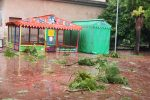 Messina, il forte vento non risparmia Villa Mazzini: le foto del disastro