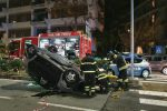 Messina: auto si ribalta in via Garibaldi - Le foto