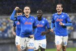 Zielinski del Napoli esulta dopo il gol (ANSA)