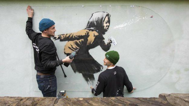 murales, banksy, Sicilia, Cultura