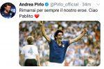 Il saluto di Andrea Pirlo per omaggiare la scomparsa di Paolo Rossi. +++ TWITTER/PIRLO +++