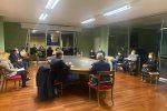 La riunione tra il sindaco di Rende, Marcello Manna, e i responsabili dell'Asp