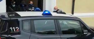 Un indagato lascia la caserma di Castrovillari dopo l'arresto