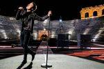 Diodato fa rumore in un'Arena di Verona deserta