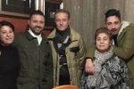 I cinque componenti della famiglia Minniti dove la trisavola ha 72 anni e il nonno ne ha 41, con la piccola Giuliana ultima arrivata