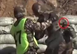 Il cadetto lancia una granata davanti ai suoi piedi: salvato dal suo superiore Il soldato aveva fatto cadere una bomba a mano durante un'esercitazione: il video dal nord della Cina - CorriereTV