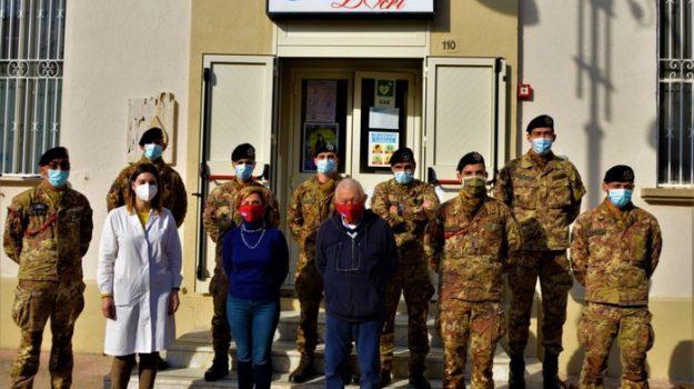 locri avis, quinto reggimento fanteria Aosta, Maria Leone, Messina, Società