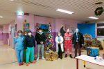 I giochi donati ai bambini dell'ospedale di Lamezia Terme dal Corpo Italiano di soccorso dell'Ordine di Malta