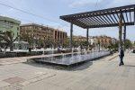 Giochi di luce a Piazza Cairoli