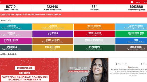 consiglieri, piattaforma Rousseau, presidente, regione calabria, scelta candidato, Calabria, Politica