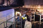 Incendio in una falegnameria a Salina, soccorsa una donna