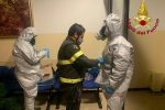 Coronavirus, i vigili del fuoco effettuano la sanificazione a Cotronei - VIDEO