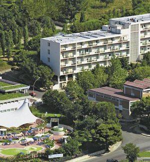 La struttura delle Terme Luigiane vista dall'alto