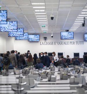 L'aula bunker di Lamezia Terme dove si sta celebrando il processo Scott-Rinascita