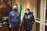 Il presidente della provincia, Salvatore Solano, ed il commissario Asp, Maria Bernardi