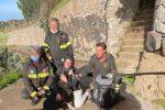 Finisce in un vallone, cane salvato a Lipari dai vigili del fuoco