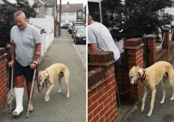 Billy, il cane che voleva zoppicare come il suo padrone Dopo aver escluso qualsiasi ferita, il veterinario ha constatato che il cane stava semplicemente imitando il modo di camminare del suo proprietario, che si era rotto una caviglia - CorriereTV