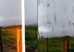 Brasile: sembra una bella giornata, poi vengono colpiti da un fulmine L'incidente è avvenuto vicino alla città di Minduri, nello Stato del Minas Gerais - CorriereTV