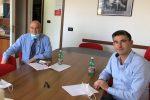 Ilpresidente di Ebac Calabria, Giovanni Aricò, e il vicepresidente Michele Gigliotti
