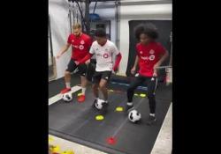 Canada, i dribbling in trio sul tapis roulant La tecnica e la velocità si possono allenare anche così - Dalla Rete