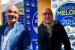 Il coordinatore di Crotone di Fdi, Michele De Simone, e il commissario cittadino Giuseppe Malena