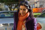 Gabriella Nuzzi, allora sostituto procuratore della Repubblica di Salerno, davanti al tribunale di Catanzaro