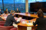 Una riunione della Giunta regionale della Calabria