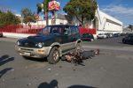 Scontro auto-moto nella zona Zir di Messina, nessun ferito grave