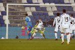 Juventus' Cristiano Ronaldo scores the 1-0 goal during the Italian Super Cup soccer match Juventus FC vs SSC Napoli at Mapei Stadium in Reggio Emilia, Italy, 20 January 2021. ANSA /ELISABETTA BARACCHI