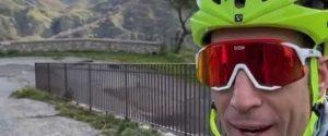 Vincenzo Nibali, durante l'allenamento su Monte Kalfa