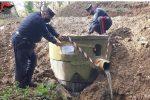 Platania, sequestrata una vasca per la raccolta delle acque reflue