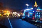 Sul luogo del tragico incidente sono intervenuti anche i vigili del fuoco