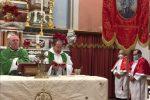 San Nicola da Crissa, benedetti labaro della confraternta e palio del Santissimo Sacramento