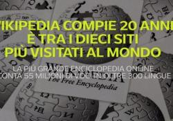 Wikipedia compie 20 anni: è tra i dieci siti più visitati al mondo La più grande enciclopedia online conta 55 milioni di voci in oltre 300 lingue - Ansa
