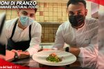Linguine con pesto di rucola, totanetti e nocciole è il piatto di chef Nicola Annunziata