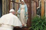 Papa Francesco visita la Madonna della Medaglia Miracolosa