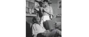 Salvatore Quasimodo con il figlio Alessandro
