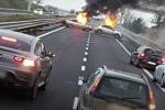 Assalto a portavalori a Foggia, pioggia di proiettili e auto in fiamme come ostacoli. IL VIDEO