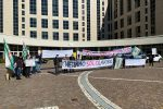 Terme Luigiane, la protesta dei lavoratori davanti alla Cittadella regionale